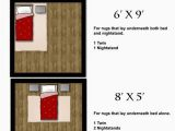 Size Of area Rug Under Queen Bed area Rug Size Guides for Twin and Queen Size Beds