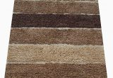 Skid Resistant Bath Rugs Chardin Home Cordural Stripe Bath Rug Runner with Skid Resistant Latex Spray Underneath Brown Beige 24 W X 60 L