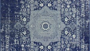 Small Blue area Rugs 3 X 5 Small Contemporary Dark Blue Rug Everek