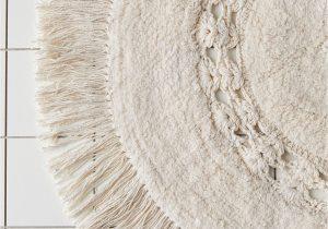 Small Round Bath Rug Raine Crochet Round Bath Mat In 2020
