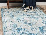 Sofia Power Loom Blue Beige area Rug 4 X 6 Unique Loom sofia Collection Beige 4 X 6 area Rug