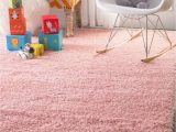 Soft area Rugs for Nursery Cloudy Shag solid Snow White Rug