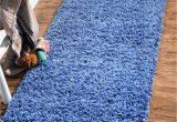 Solid Blue Runner Rug 2 2 X 6 5 solid Shag Runner Rug