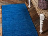 Solid Blue Runner Rug Blue 2 7 X 16 5 solid Gabbeh Runner Rug Rugs Com