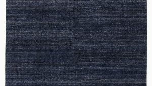 Solid Dark Blue area Rug origin Hand Knotted solid Dark Blue area Rug 8 X10