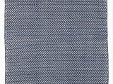 Solid Navy Blue Outdoor Rug Herringbone Chevron Hand Woven Flatweave Blue area Rug