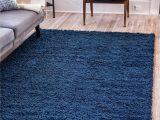 Solid Navy Blue Rug Sapphire Blue 5 X 8 solid Shag Rug Esalerugs Dark Blue
