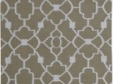 Somerset Home Geometric area Rug Grey and White Ozzie Geometric Handwoven Dorian Gray F White area Rug