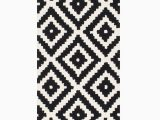 Somerset Home Geometric area Rug Grey and White Pin On Runner