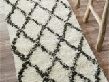 Somerset Home Geometric area Rug Grey and White Twinar Geometric Hand Knotted Wool F White Dark Gray area Rug