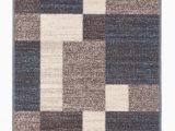 Taira Block Blue Gray area Rug Brighouse Geometric Blue Gray area Rug