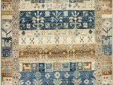 Tan and Blue area Rug 8×10 Momeni E Of A Kind Super Kazak Capsule area Rugs