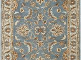 Tan and Blue area Rug 8×10 Rizzy Home Volare Collection Wool area Rug 8 X 10 Blue Brown Tan Blue Lt Teal Lt Brown Border