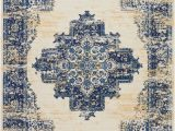 Target Blue and White Rug Susan oriental Blue Ivory area Rug