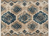 Taupe and Blue Rug Capel Bethel Diamond 2462 Taupe Blue area Rug