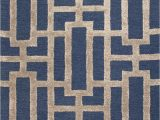 Taupe and Blue Rug Dallas Rug Sample In Blue and Taupe