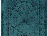Teal and Blue area Rugs Teal Blue Overdyed Style area Rug with Ikea oriental