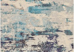 Teal and Blue Rug Nourison Celestial Ces02 Ivory Teal Blue area Rug