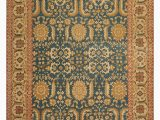 Teal and Brown area Rug 8×10 8×10 Hand Knotted Persian Wool Traditional oriental area Rug Teal Gold Colour