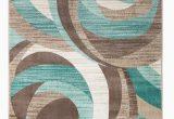 Teal and Brown area Rug 8×10 Gaeta Abstract Teal Brown area Rug
