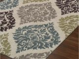 "Teal and Brown area Rug 8×10 Modern Contemporary Rug 8×10 8 2""x10 Ivory Teal"