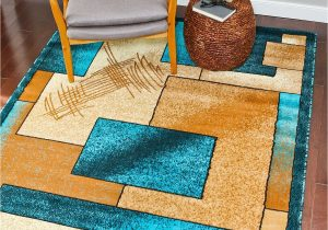 Teal and Brown area Rug Walmart 1657 Turquoise