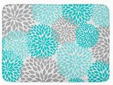Teal and Gray Bathroom Rugs Amazon Com Coolest Secret Bath Mat Floral Turquoise Teal