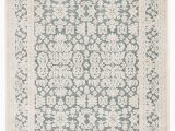 "Teal and Ivory area Rugs Regal Damask Teal Ivory area Rug 7 6""x9 6"""