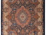 Terracotta and Blue Rug Persian Terracotta Blue Kashmar Rug by Ahwazian In Rugs