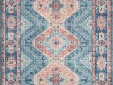 """Terracotta and Blue Rug Sky 03 Color Turquoise Terracotta Size 7 6"""" X 9 6"""