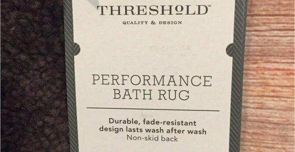 Threshold Performance Bath Rug Threshold Performance Bath Rug 20 X 34 Brown New