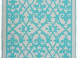 Tiffany Blue area Rug Fab Rugs World Venice Gray & Turquoise Indoor Outdoor area