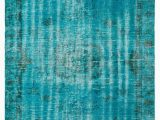 "Tiffany Blue area Rug Over Dyed Turkish Vintage Rug 5 5"" X 8 11"" 65 In X 107"