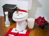 Toilet Seat Cover and Rug Bathroom Set Amazon Santa toilet Seat Cover and Rug Set Bathroom