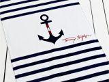 Tommy Hilfiger Bathroom Rugs tommy Hilfiger towels Anchor and Stripe Beach towel