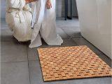 Top Rated Bathroom Rugs Natural Bamboo Wood Bath Mat Wooden Door Mat Kitchen Floor Rug Bathroom Shower and Tub Mats