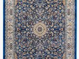 Traditional Blue area Rugs Golz Traditional Blue Brown area Rug
