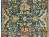 Traditional Blue area Rugs Nourison Traditional Antique Trq02 Teal Blue area Rug