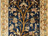 Tree Of Life area Rug 3 X5 Tree Of Life Blue Silk Rug Birds Carpet oriental Design Accent Wall Art