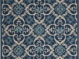 Tributary Indoor Outdoor area Rug Caribbean 9 X13 Navy Blue and White Oversized Indoor