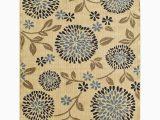 Tributary Indoor Outdoor area Rug Natco Rugs Ivory & Navy Tributary Chrysanthemum Rug