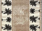 Tropical area Rugs 8 X 10 Palm Tree Modern area Rug Tropical Beige & Green Design 729 8 Feet X 10 Feet
