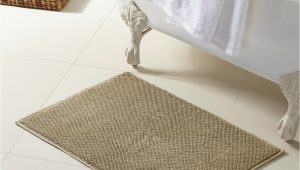 Turkish Cotton Bath Rugs Modern Threads Turkish Cotton Reversible Bath Rug Oatmeal