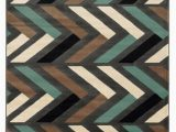 Turquoise and Brown area Rug 8×10 Roma Collection 8×10 area Rug In Grey Turquoise Linon
