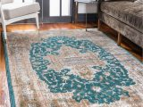 Turquoise and Brown area Rug 8×10 Teal 8 X 10 Delilah Rug