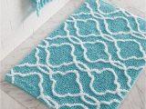 Turquoise Bath towels and Rugs Dena Home Tangiers Bath Rug