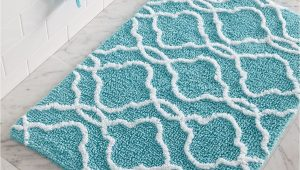 Turquoise Bathroom Rugs and towels Dena Home Tangiers Bath Rug