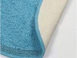 Turquoise Color Bathroom Rugs Beach Blue Cotton 1 Bath Rug Turquoise