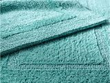 Turquoise Color Bathroom Rugs Reversible Cotton Turquoise Bath Rug Everything Turquoise