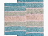 Turquoise Color Bathroom Rugs Shop Benzara Cordural Turquoise Cotton Mixed Bath Rug Set